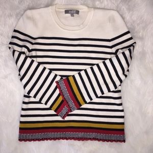 Marled Stripe Sweater Size Small